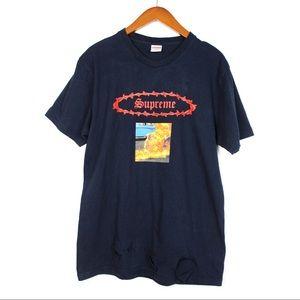 SUPREME Man on Fire Short Sleeve T-Shirt
